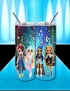 LOL Dolls Fashion 20 OZ Skinny TumblerD Digital Design