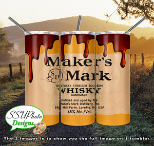 Makers Mark 20 oz and 30oz OZ Skinny TumblerD Digital Design
