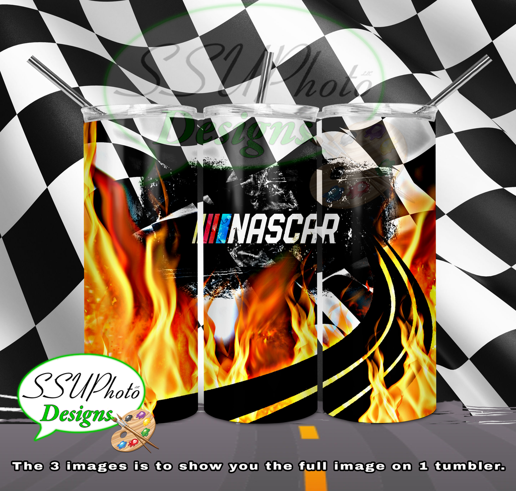 Nascar 20 OZ Skinny TumblerD Digital Design