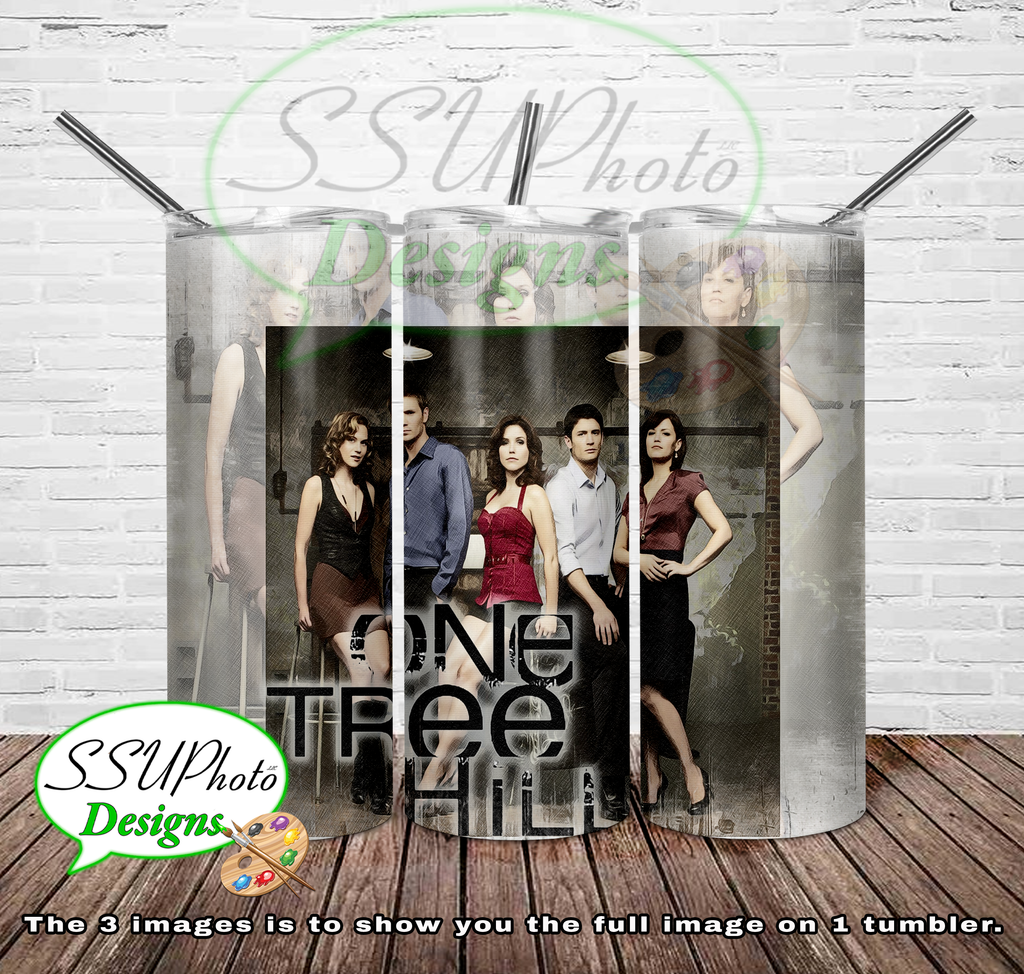 One Tree Hill 20 OZ Skinny TumblerD Digital Design