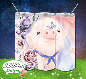 Pig Collection 20 OZ Skinny TumblerD Digital Design