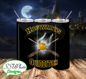 Harry Potter Quidditch 20 OZ Skinny TumblerD Digital Design