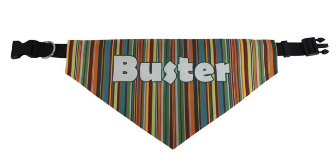 Custom Pet Bandanas with Collar