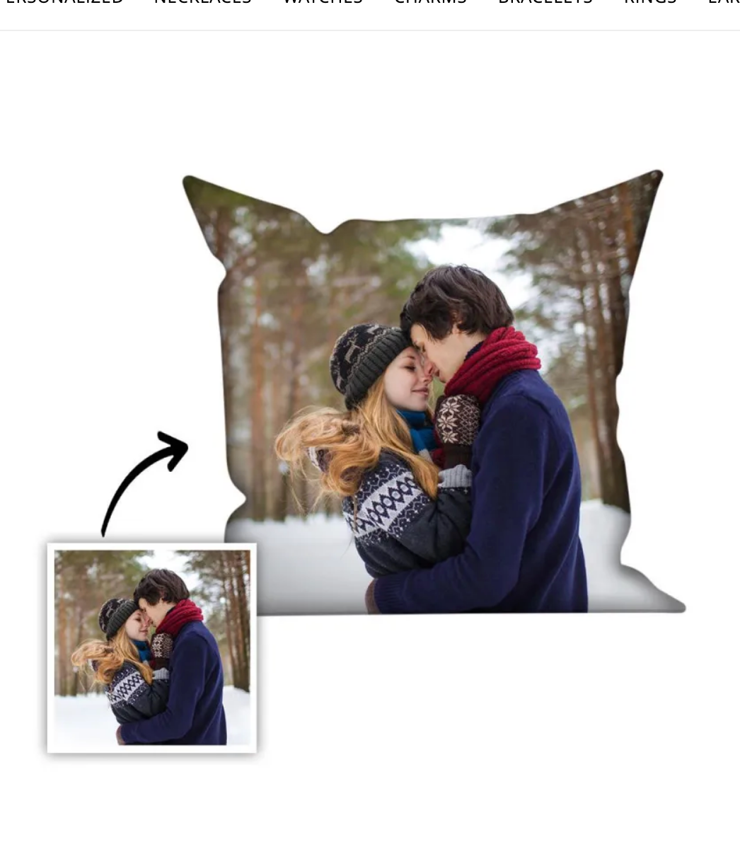 "16"" x 16"" Photo Pillow Case"