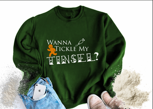Wanna Tickle my Tinsel Winter Sweater