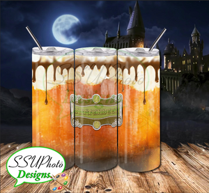 Harry Potter Butter beer  20 OZ Skinny TumblerD Digital Design
