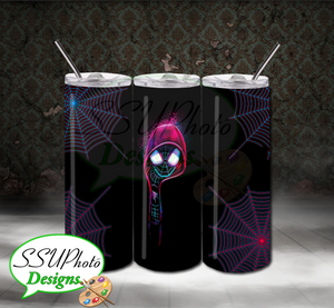 Neon Spiderman 20 OZ Skinny TumblerD Digital Design