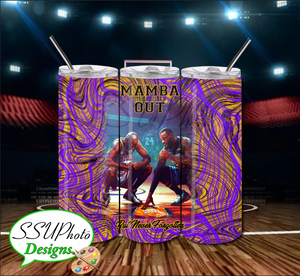 Mamba Out 20 OZ Skinny Tumbler straight  Digital Design