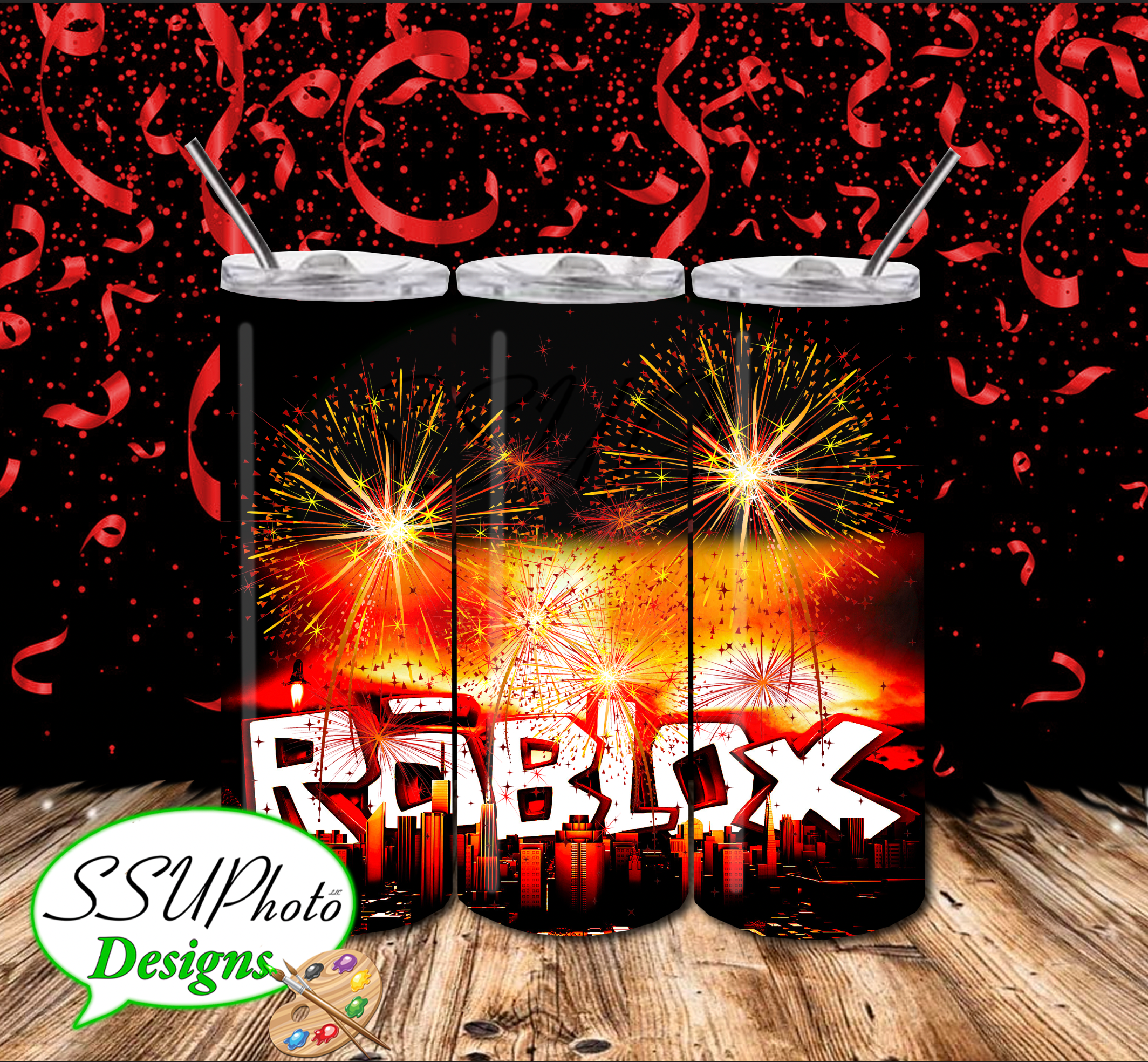 Roblox2 20 OZ Skinny Tumbler straight  Digital Design