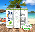Corona  Seltzer Collection 20 OZ Skinny Tumbler Straight Digital