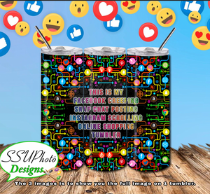 Social Media all Digital Design 20 OZ Skinny Tumbler