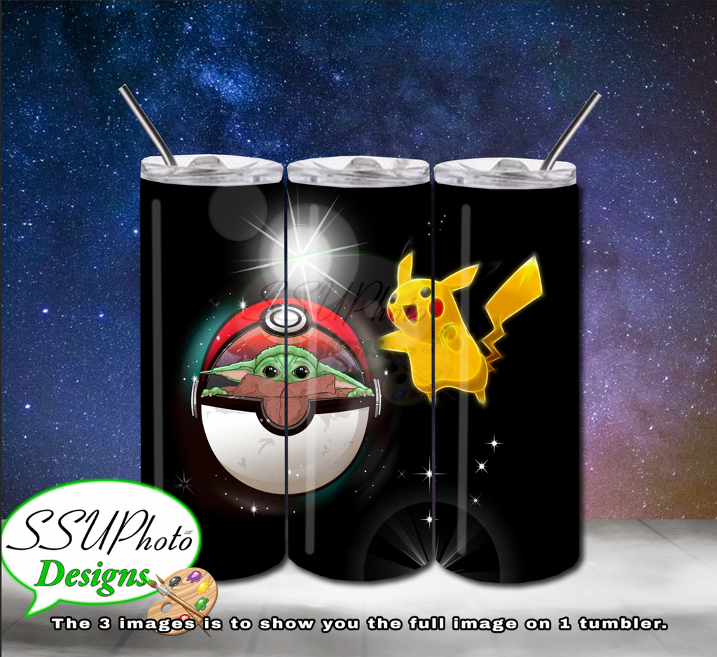 PokeYoda Digital Design 20 OZ Skinny Tumbler