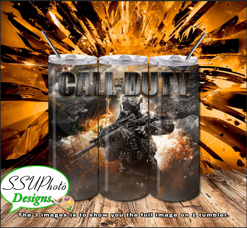 Call of Duty 20 OZ Skinny TumblerD Digital Design