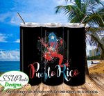 Puerto Rico Collection 1 20 OZ Skinny TumblerD Digital Design