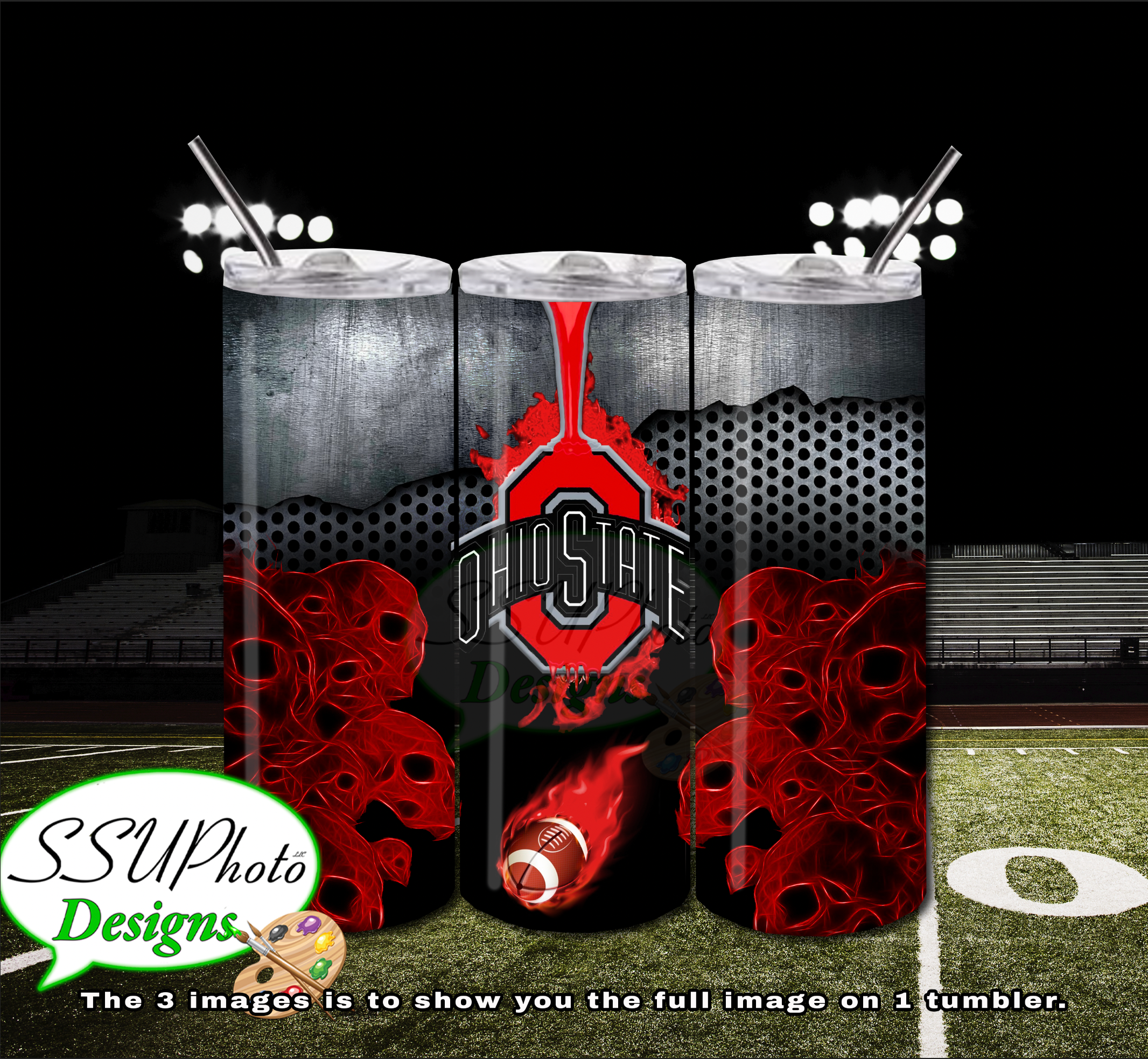 Ohio State Buckeyes1 20 OZ Skinny TumblerD Digital Design
