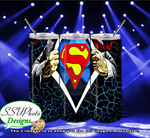 Superman Collection 20 OZ Skinny TumblerD Digital Design
