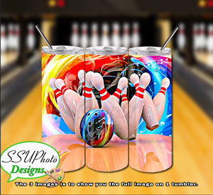 Bowling Collection 20 OZ Skinny TumblerD Digital Design
