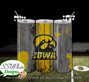 Hawkeyes 1 20 OZ Skinny TumblerD Digital Design