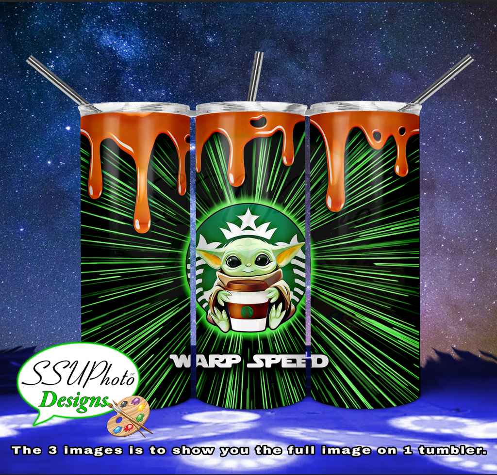 Yod-a Warp Speed Star Bucks Coffee Tumbler