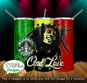 One Love 20 oz and 30oz OZ Skinny TumblerD Digital Design