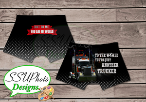 Truckers World Mens Boxers Digital File