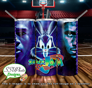 Space Jam 20 OZ Skinny TumblerD Digital Design
