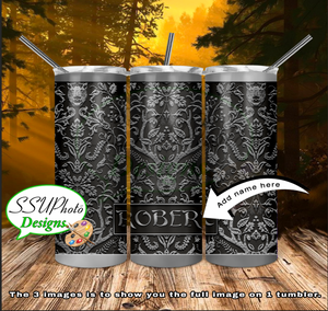 Hunter Personalized 20 OZ Skinny TumblerD Digital Design