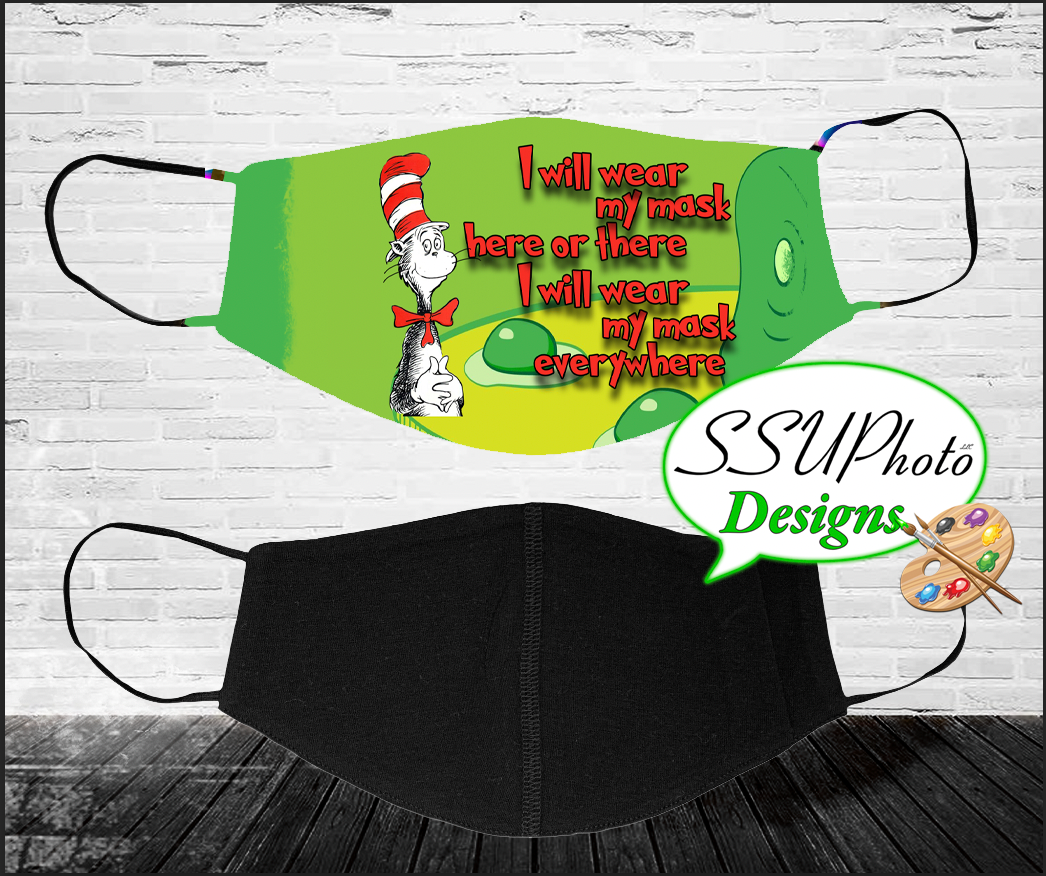 Cat in the Hat Wear mask Digital Silky Template
