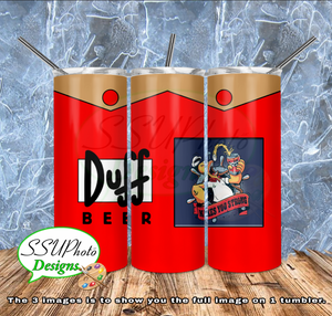 Duff Beer 20 oz and 30oz OZ Skinny TumblerD Digital Design