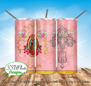 Virgen de Guadalup 20 oz and 30oz OZ Skinny TumblerD Digital Design