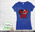 Love is Among Us Ladies V-neck T-Shirts