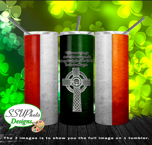 Luck of the Irish 20 oz and 30oz OZ Skinny TumblerD Digital Design