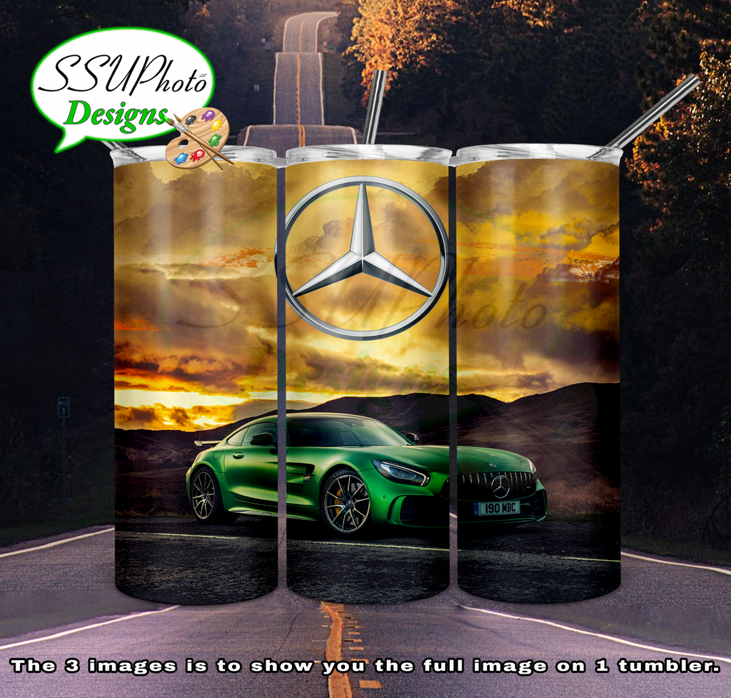 Benz3 20 oz and 30oz OZ Skinny TumblerD Digital Design