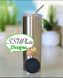 30oz (25 pack) Straight Sublimation Stainless silver Tumblers