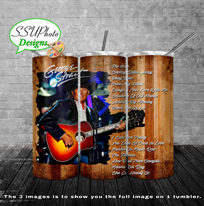 George Strait  20 oz and 30oz OZ Skinny TumblerD Digital Design