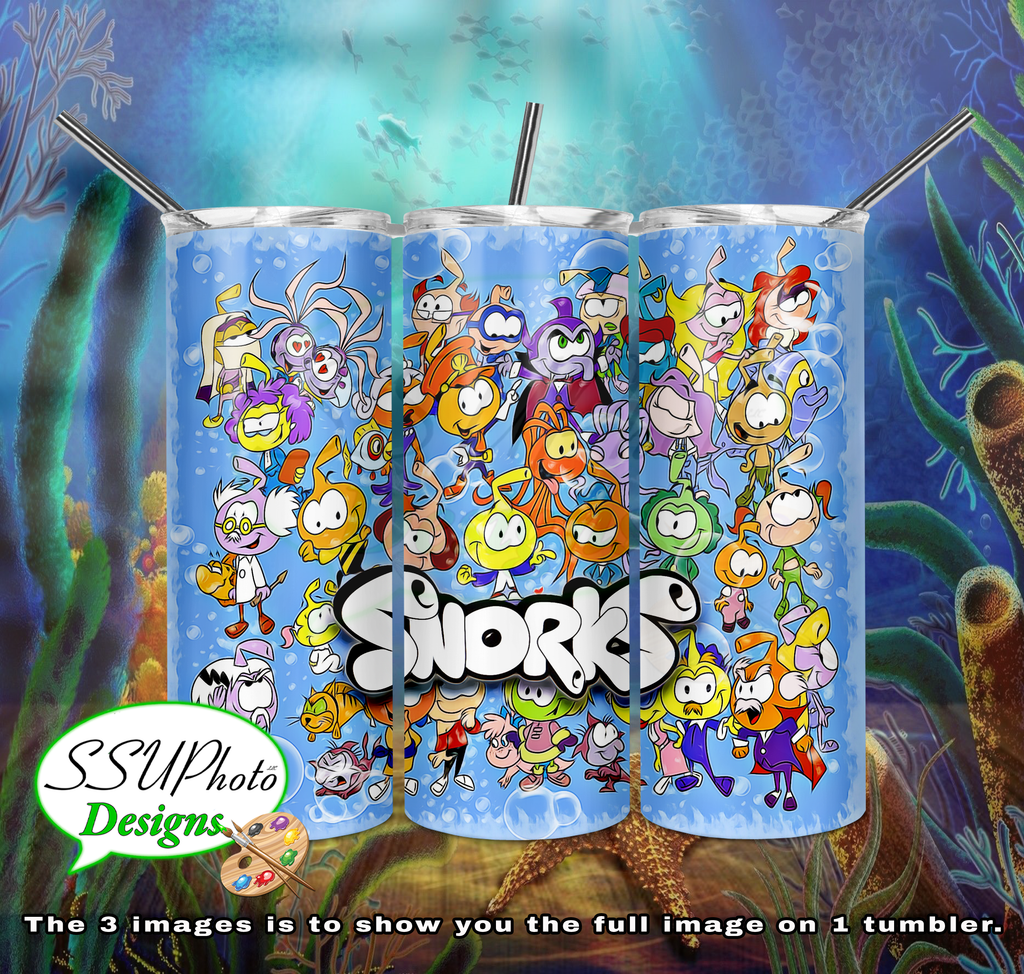 The Snorks 20 oz and 30oz OZ Skinny TumblerD Digital Design