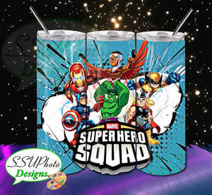 Superhero Squad 20 OZ Skinny TumblerD Digital Design