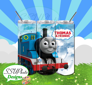 Thomas the Train 20 OZ Skinny Tumbler straight  Digital Design