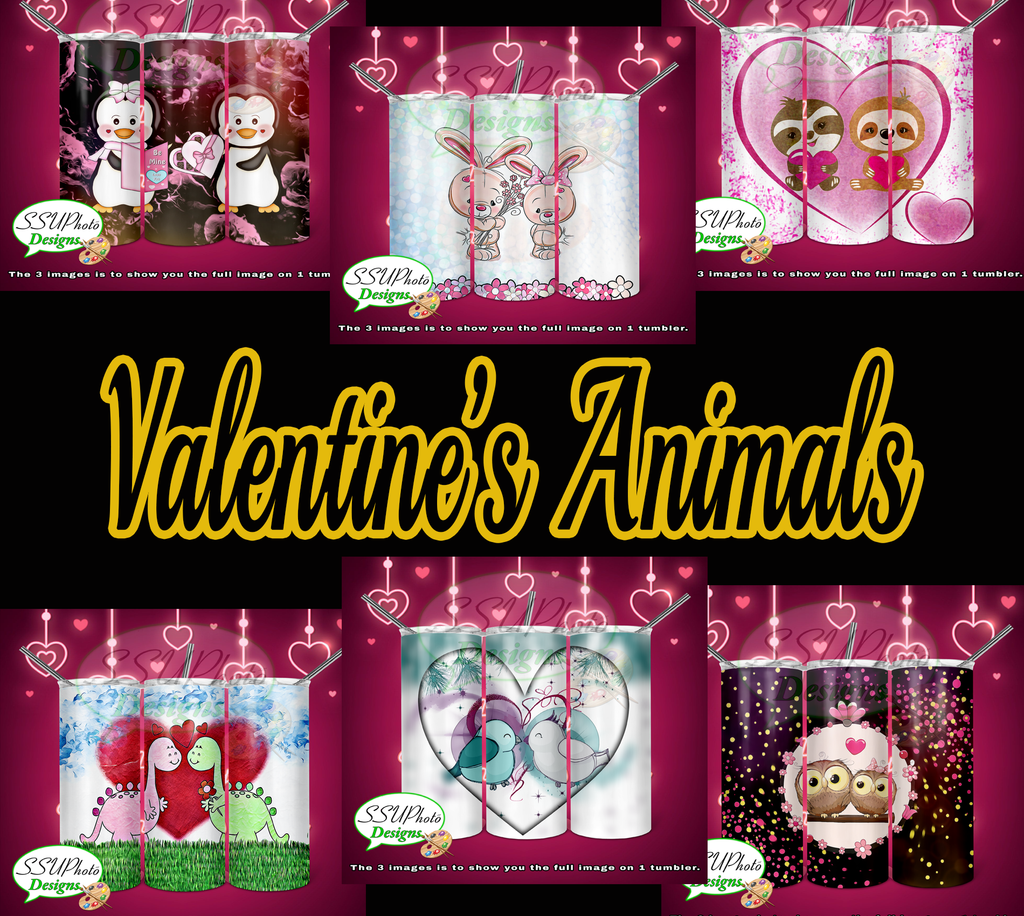 Valentine's Animal Collection Tumbler