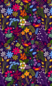 Floral 1 Gaiter Digital Design