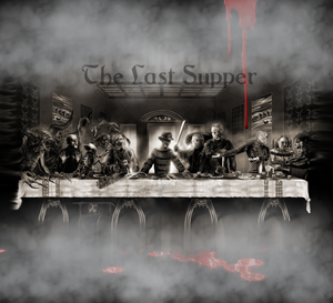 20 OZ Skinny TumblerD last supper Digital Design