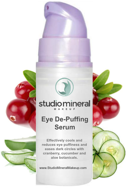Eye De-Puffing Serum with Cucumber & Cranberry / Tones, Tightens, Lightens