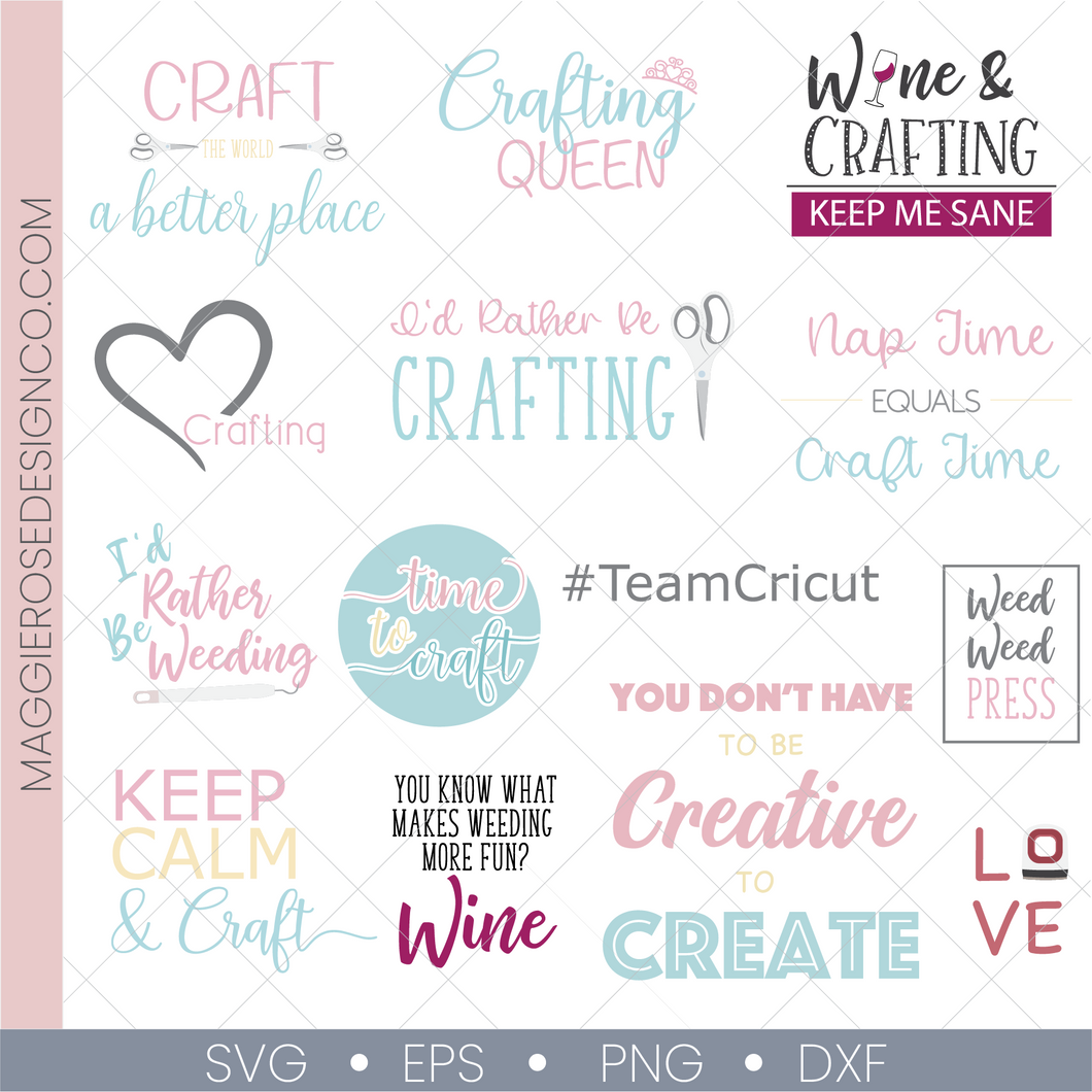 Craft Quotes Cut File Bundle