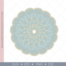 Load image into Gallery viewer, Seashell Swirls Mandala - Full Layers