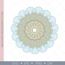 Load image into Gallery viewer, Seashell Swirls Mandala - Expanding Layers