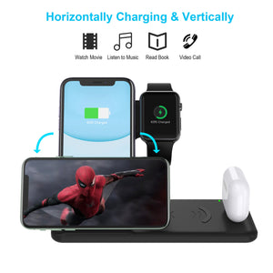 4 IN 1 Fast Wireless Charger Dock Station