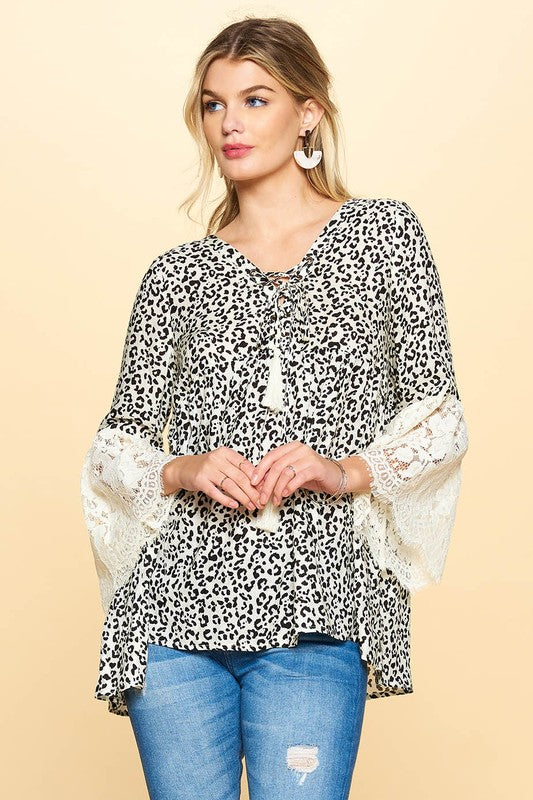 Leopard and Lace Blouse