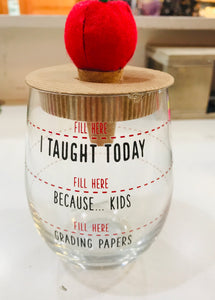 Teacher Wine Glass and Cork set