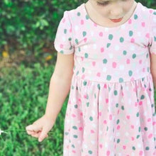 Load image into Gallery viewer, Twirly Polka Dot Dress