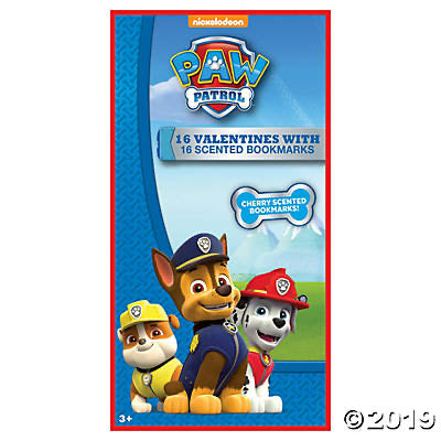 Paw Patrol Valentines with Scented Bookmark